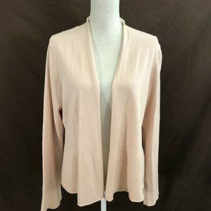 Eileen Fisher Woman Silk Cashmere Open Front Large